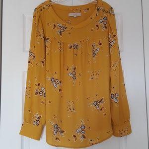 Loft fall floral blouse,  size large